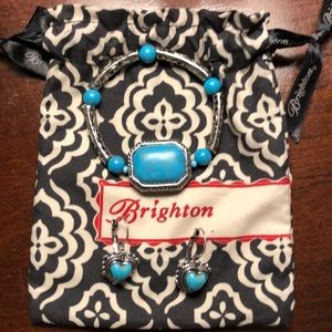 Brighton (?) bracelet & earrings set
